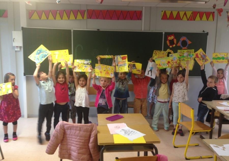 Atelier d'écriture à l'école de Gestel animé par l'écritoire de Marie