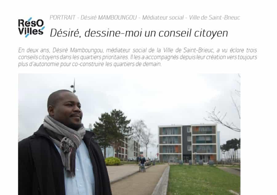 L'ecritoire de Marie- Portrait d'un médiateur social pour RésoVilles - Saint-Brieuc