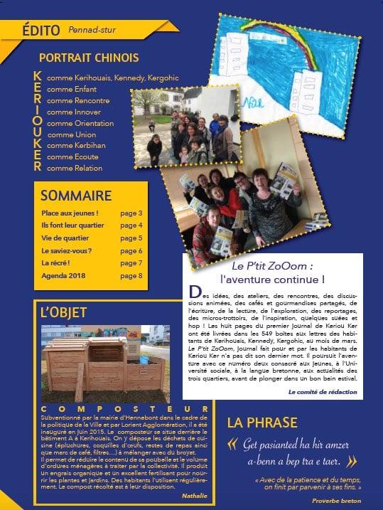 Projet journal de quartier le P'tit ZoOom de Keriouker - L'ecritoire de Marie