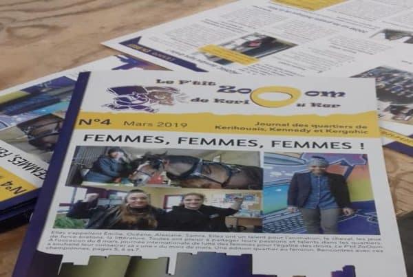 Sortie du journal de quartier de la Ville d'Hennebont.