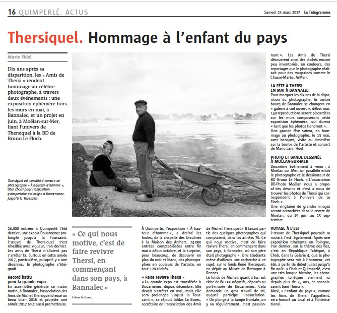 Kersalé, Paul Bloas, Thersiquel... ces artistes captivent. Leurs œuvres ont marqué l'écritoire de Marie, lors de reportages culturels pour le Télégramme.